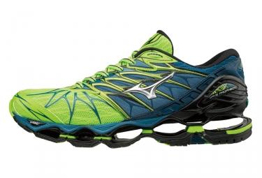 chaussures de running mizuno wave prophecy 7 vert bleu 41