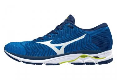 chaussures de running mizuno wave rider 21 waveknit bleu 41