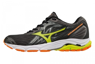 Chaussures de running mizuno wave inspire 14 noir orange jaune 40 1 2
