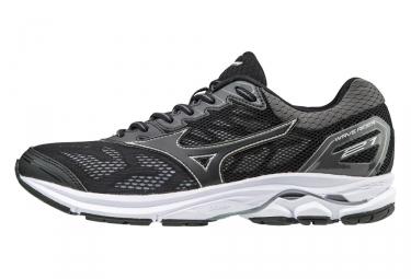 chaussures de running femme mizuno wave rider 21 noir argent 40