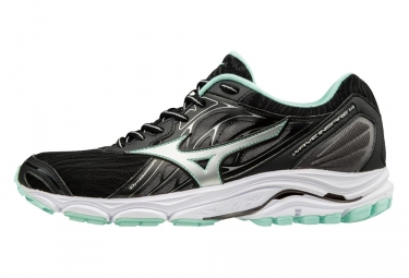 chaussures de running femme mizuno wave inspire 14 noir bleu 37