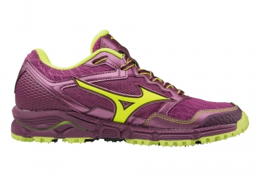Mizuno Wave Daichi 3 Purple Neon Yellow Women
