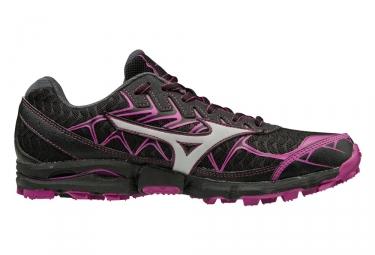 Image of Chaussures de trail femme mizuno wave hayate 4 noir violet 36 1 2