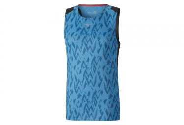 Camiseta sin mangas Mizuno Aero Azul Negro