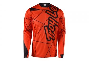 Maillot manches longues troy lee designs sprint metric orange noir xl