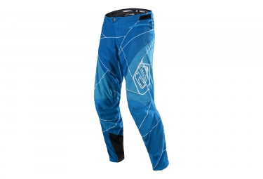 pantalon enfant troy lee designs sprint metric bleu blanc 20