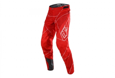 pantalon enfant troy lee designs sprint metric rouge blanc 26