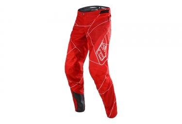 Pantalon enfant troy lee designs sprint metric rouge blanc 20