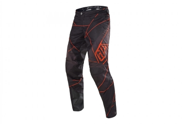 Pantalon troy lee designs sprint metric noir orange 28