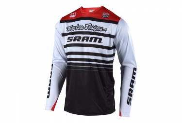 Maillot manches longues troy lee designs sprint sram blanc noir l