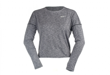 Maillot Manches Longues Femme Nike Dry Medalist Gris