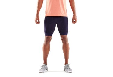 Skins DNAmic Superpose 2-in-1 Shorts Mariner Blue Purple