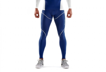 Mallas largas Skins DNAmic Ultimate Cooling Hombre Blanco Azul