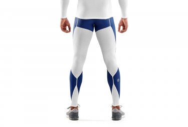 Collant Long Skins DNAmic Ultimate Cooling Blanc Bleu Homme