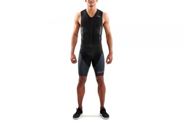 Combinaison trifonction skins dnamic triathlon noir gris s