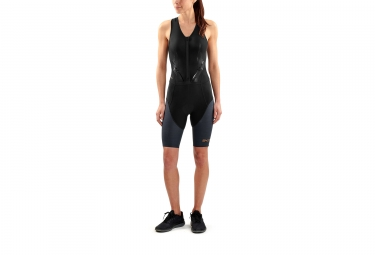 Skins DNAmic Triathlon Skinsuit Zip Avant Noir Femme