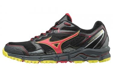Chaussures de trail mizuno wave daichi 3 noir rouge jaune 41