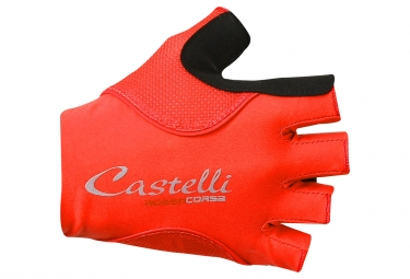 Castelli Rosso Corsa Pave Women Short Gloves Red