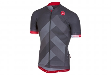 maillot manches courtes castelli 2018 free ar 4 1 gris rouge s