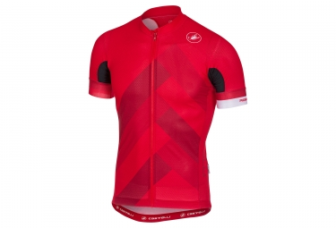 maillot manches courtes castelli 2018 free ar 4 1 rouge s
