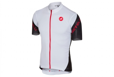 Castelli 2018 Entrata 3 Short Sleeves Jersey White Black Red