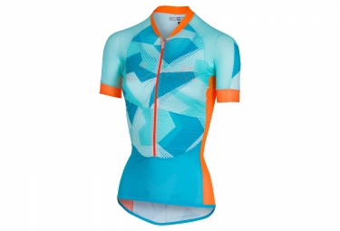 Maillot manches courtes femme castelli 2018 aero race bleu orange s