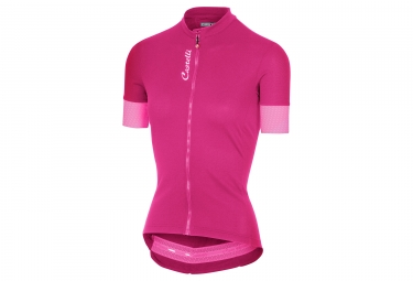 Maillot manches courtes femme castelli anima 2 rose m