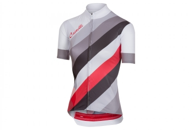 Maillot Mujer Castelli 2018 Prisma Blanco Gris Rouge