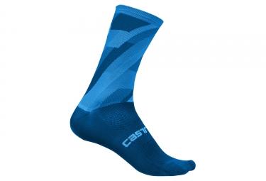 Paire de chaussettes castelli geo 15 bleu 44 47