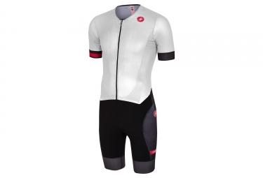 Castelli 2018 Free Sanremo Triathlon Suit White Black
