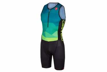 Castelli Core Tri Suit Blue Neon Yellow Black