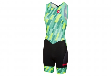Castelli 2018 Short Distance Women Race Suit Green Yellow Black