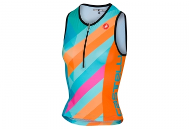 Débardeur Triathlon Femme Castelli 2018 Core 2 Bleu Orange