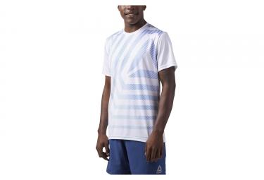 Reebok Running Graphic Short Sleeves Jersey White Blue