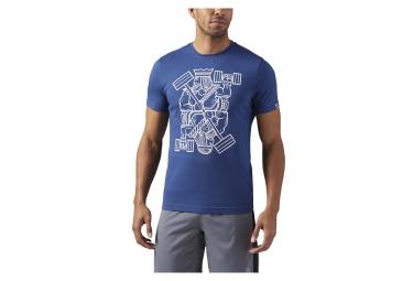 T-Shirt Reebok King of Training Bleu
