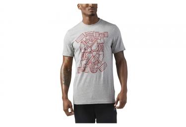 T shirt reebok king of training gris s