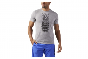 Maillot manches courtes reebok pineapple weights gris m