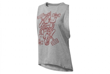 Reebok Queen Of Training Camiseta sin mangas gris