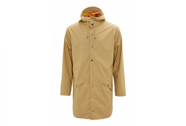 Rains Long Jacket Waterproof Jacket Desert