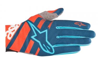 Alpinestars gants racer orange bleu s