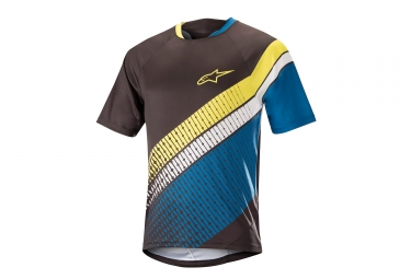Alpinestars maillot predator manches courtes noir bleu jaune m