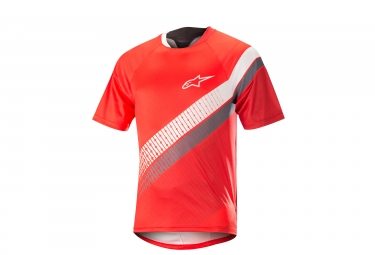 ALPINESTARS Jersey PREDATOR Manches Courtes Red White
