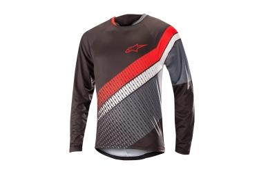 Alpinestars maillot predator manches longues noir gris rouge s