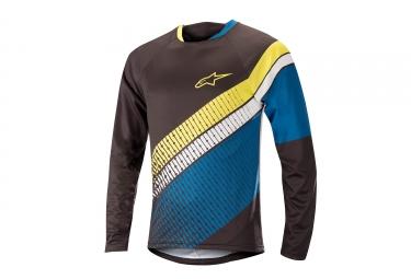 Alpinestars maillot predator manches longues noir bleu jaune l