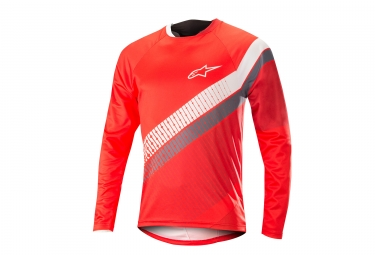 Alpinestars maillot predator manches longues rouge blanc l