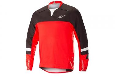 Alpinestars maillot drop pro manches longues noir rouge m