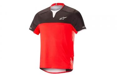 Alpinestars maillot drop pro manches courtes noir rouge s