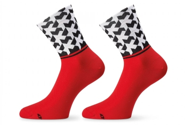Assos MonogramSock_Evo8 National Red