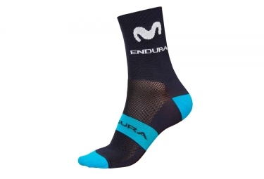 Calcetines Endura Movistar Team Race - Noir / Bleu
