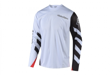 Maillot Manches Longues Troy Lee Designs Sprint Elite Escape Blanc Noir